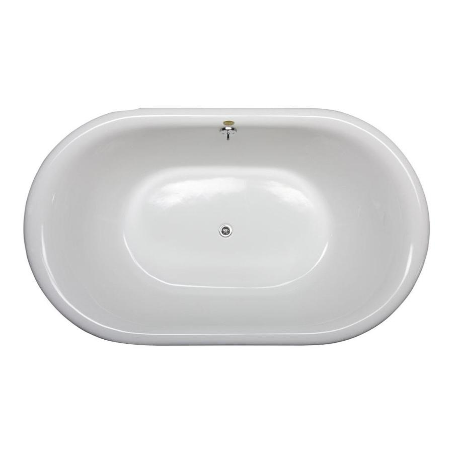 Shop Jacuzzi Era 71-in White Acrylic Bathtub with Center Drain at ...