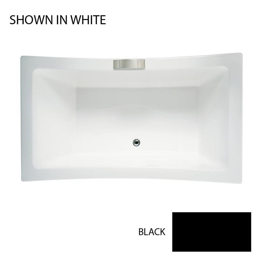 Jacuzzi Allusion 66-in Black Acrylic Bathtub with Front Center Drain