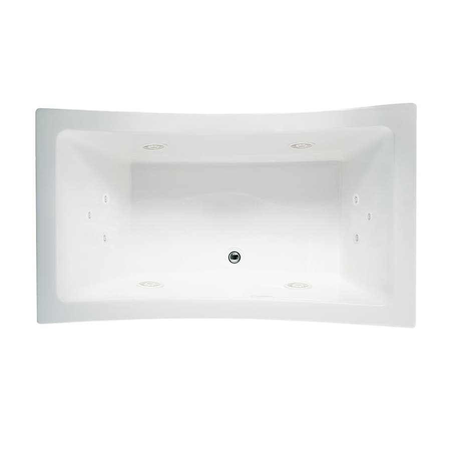 Jacuzzi Allusion 2-Person White Acrylic Rectangular Whirlpool Tub (Common: 42-in x 72-in; Actual: 42-in x 42-in x 72-in)