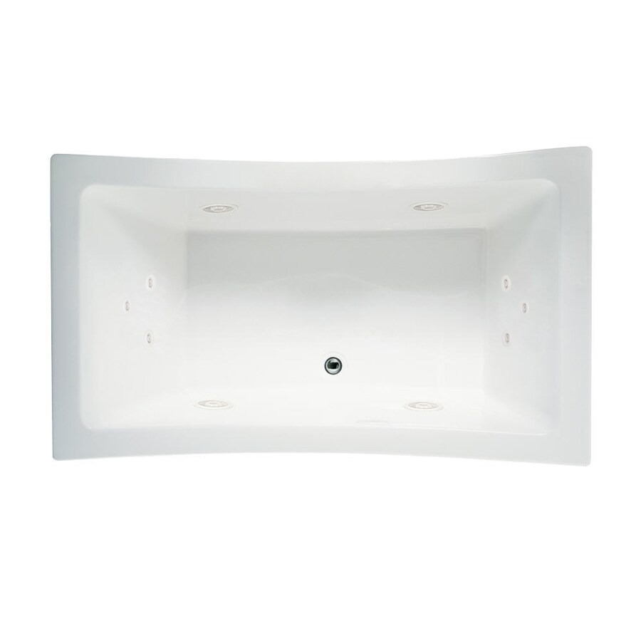 Jacuzzi Allusion 72-in White Acrylic Drop-In Whirlpool Tub with Front Center Drain