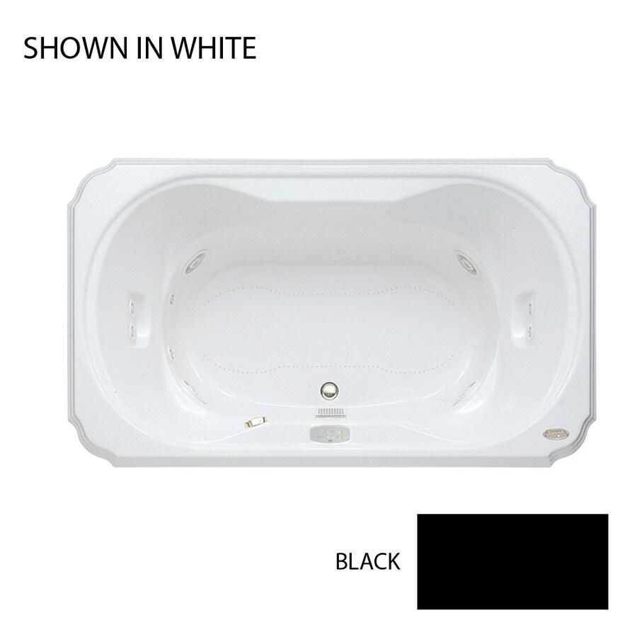 Shop Jacuzzi Bellavista 66-in L x 42-in W x 26-in H 2-Person Black ...