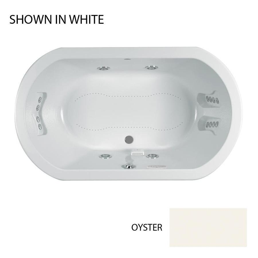 Shop Jacuzzi Duetta 60-in L x 42-in W x 26-in H Oyster Acrylic Oval ...