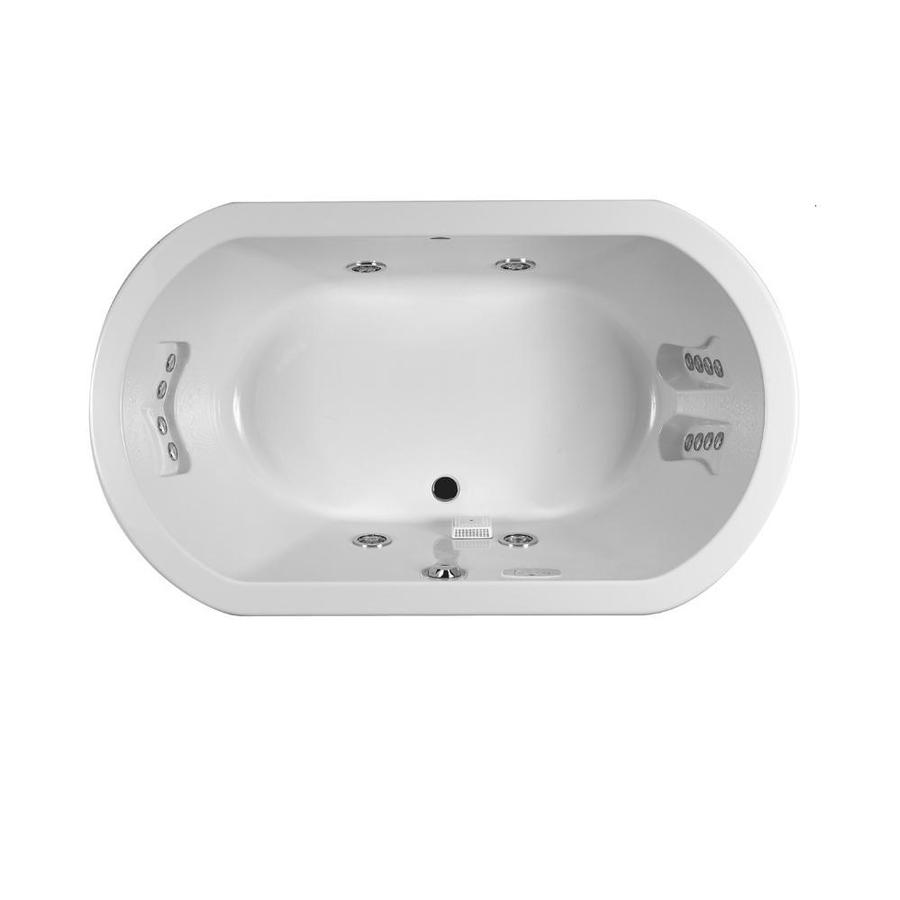 Shop Jacuzzi Duetta 2-Person White Acrylic Oval Whirlpool Tub ...