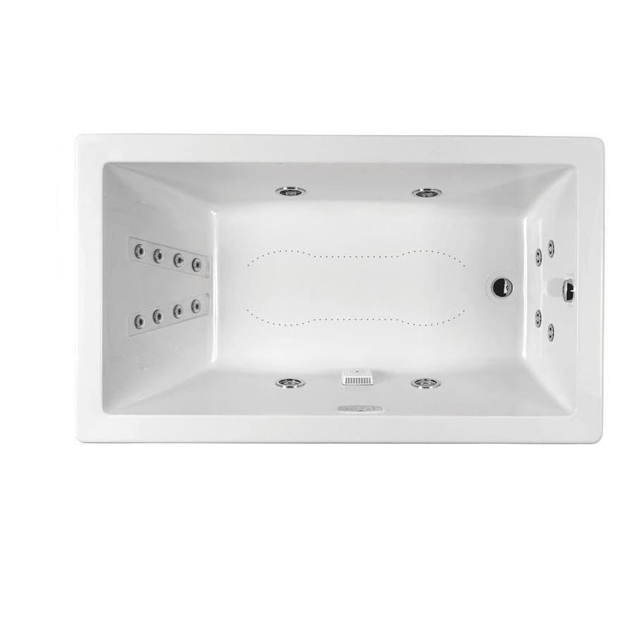 Shop jacuzzi elara 60 in l x 42 in w x 26 in h white for Jacuzzi rectangular medidas