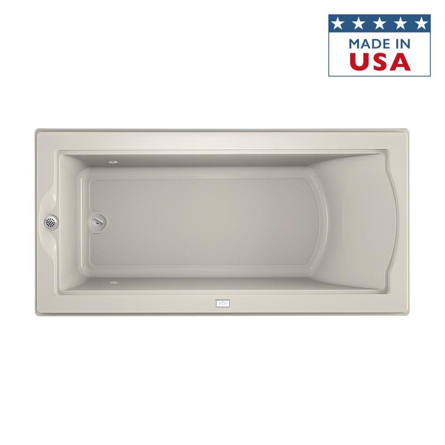 Jacuzzi Fuzion 70.7-in Oyster Acrylic Drop-In Bathtub with Reversible Drain