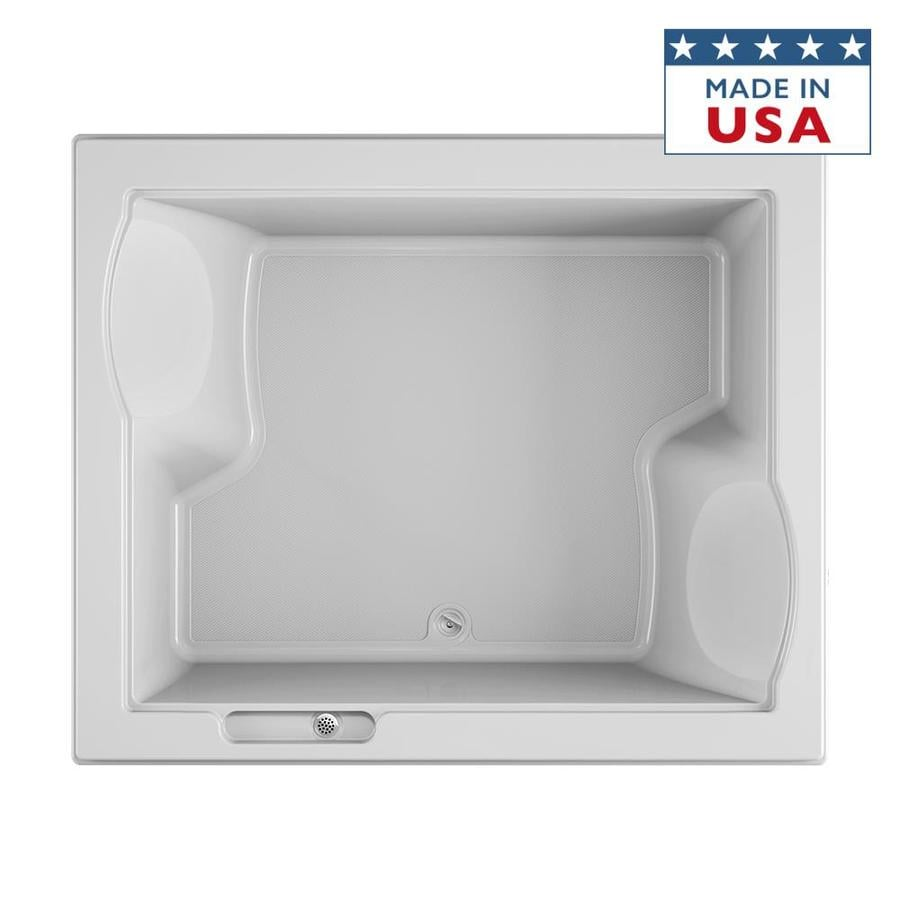 Jacuzzi Fuzion White Acrylic Rectangular Drop-in Bathtub with Center Drain (Common: 60-in x 72-in; Actual: 24-in x 59.75-in x 71.75-in)