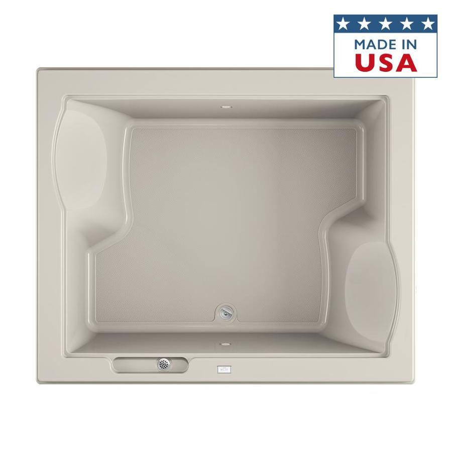 Jacuzzi Fuzion 71.75-in Oyster Acrylic Drop-In Bathtub with Front Center Drain