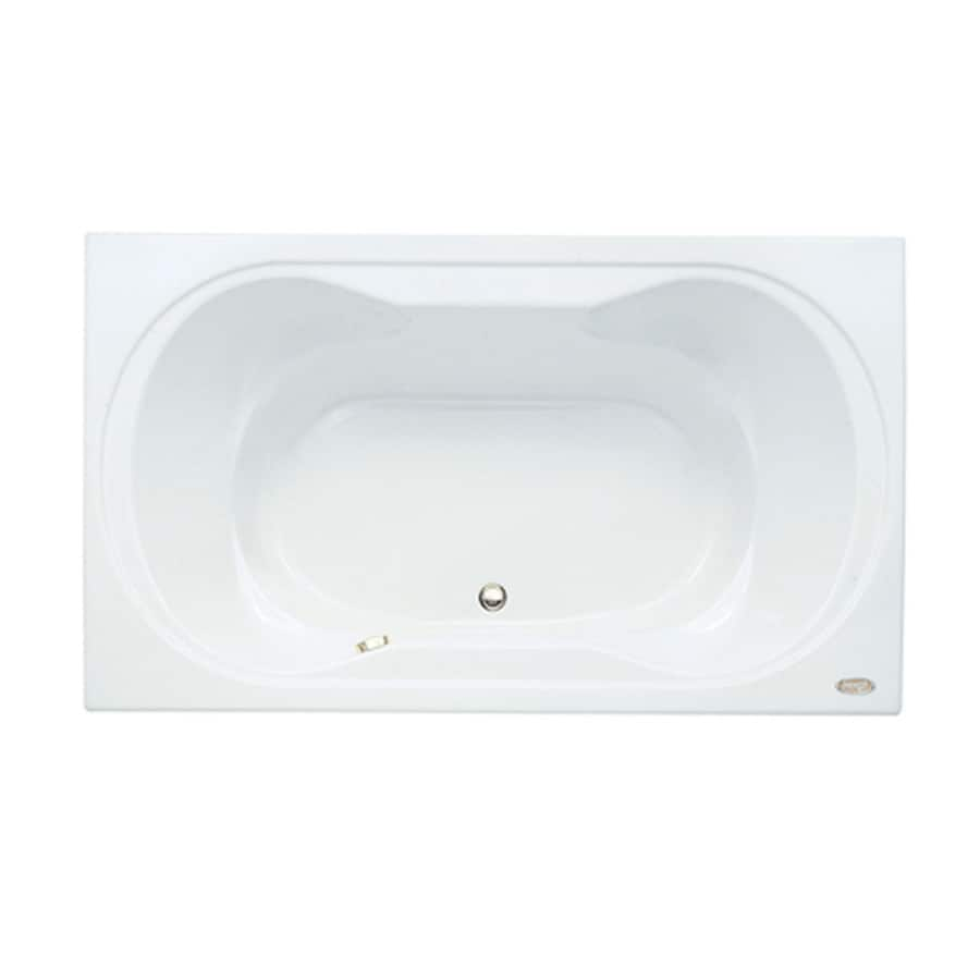 Jacuzzi Real Acrylic Hourglass In Rectangle Drop-in Bathtub with Center Drain (Common: 42-in x 72-in; Actual: 26-in x 42-in x 72-in)