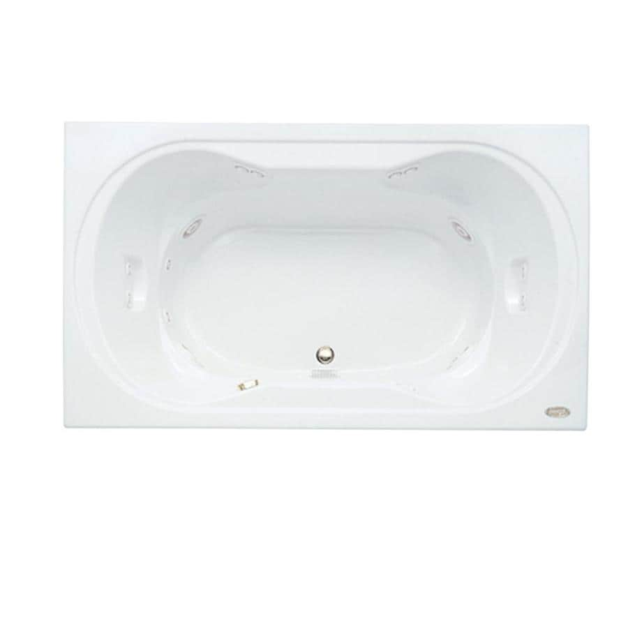 Jacuzzi Real 2-Person White Acrylic Hourglass In Rectangle Whirlpool Tub (Common: 42-in x 72-in; Actual: 26-in x 42-in x 72-in)