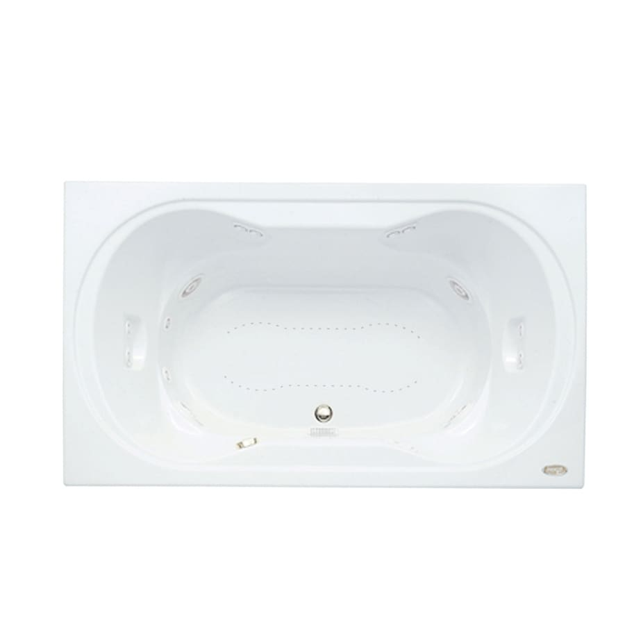 Shop Jacuzzi Real 72-in L x 42-in W x 26-in H 2-Person White Acrylic ...