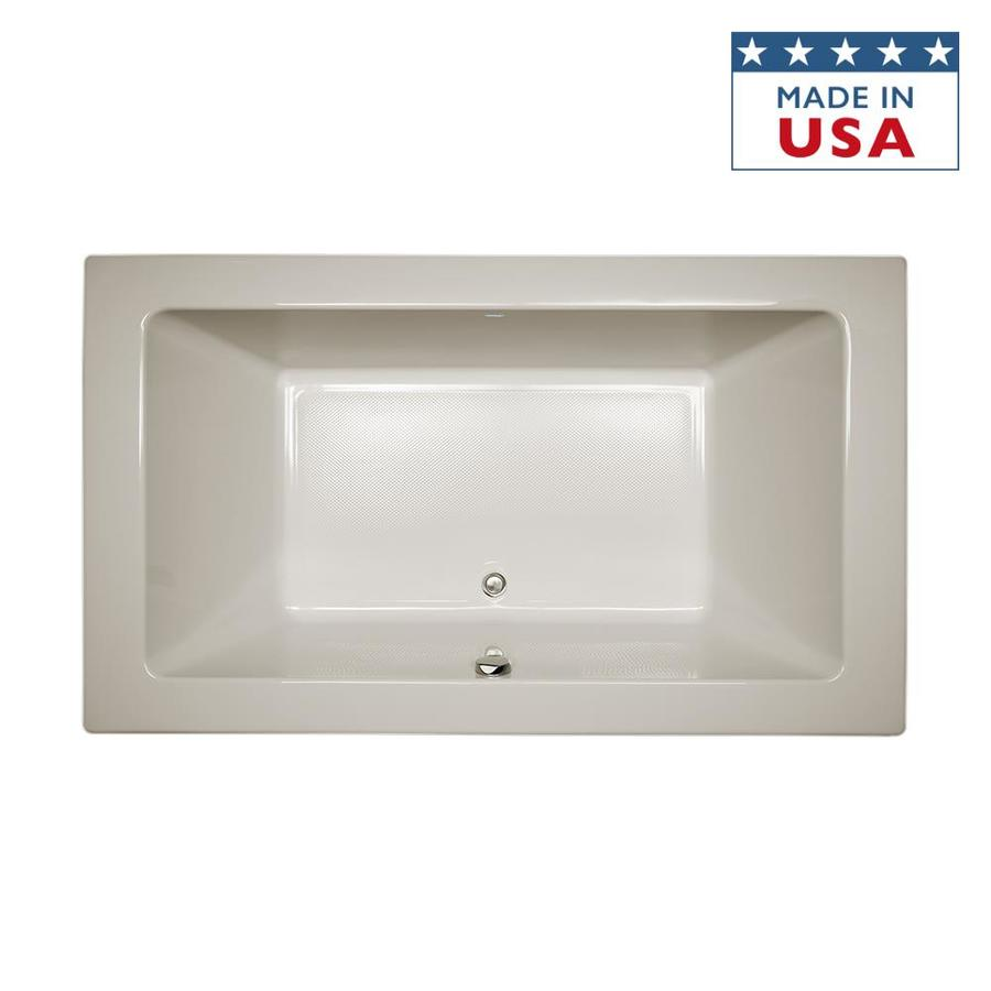 Jacuzzi Sia 66-in Oyster Acrylic Bathtub with Front Center Drain