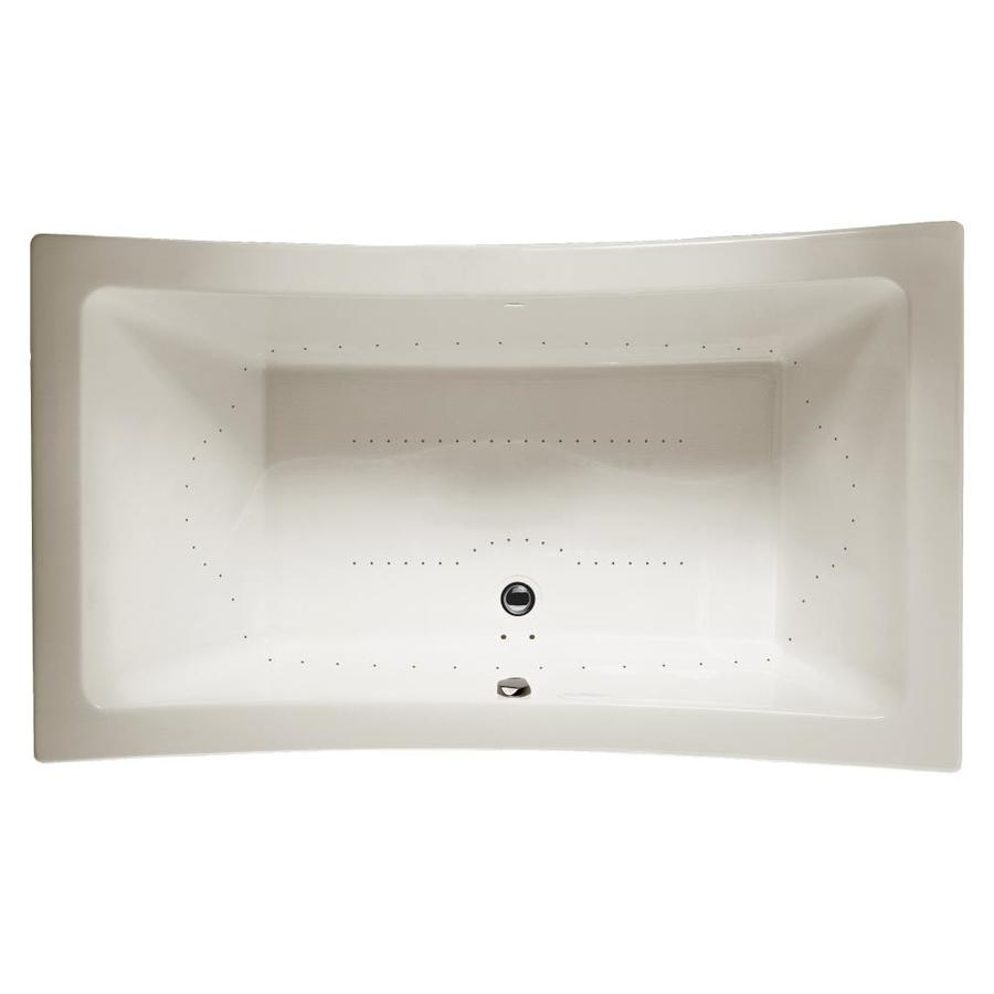 Jacuzzi Allusion 66-in Oyster Acrylic Drop-In Air Bath with Front Center Drain