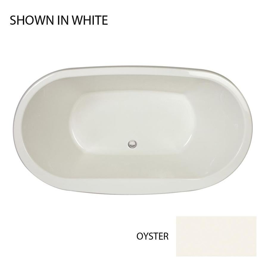 Jacuzzi Mio Oyster Acrylic Oval Drop-In Bathtub with Center Drain (Common: 36-in x 66-in; Actual: 25-in x 36-in x 66-in)