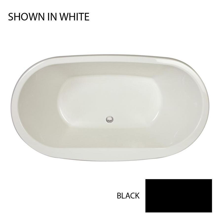 Jacuzzi Mio 72-in Black Acrylic Bathtub with Center Drain