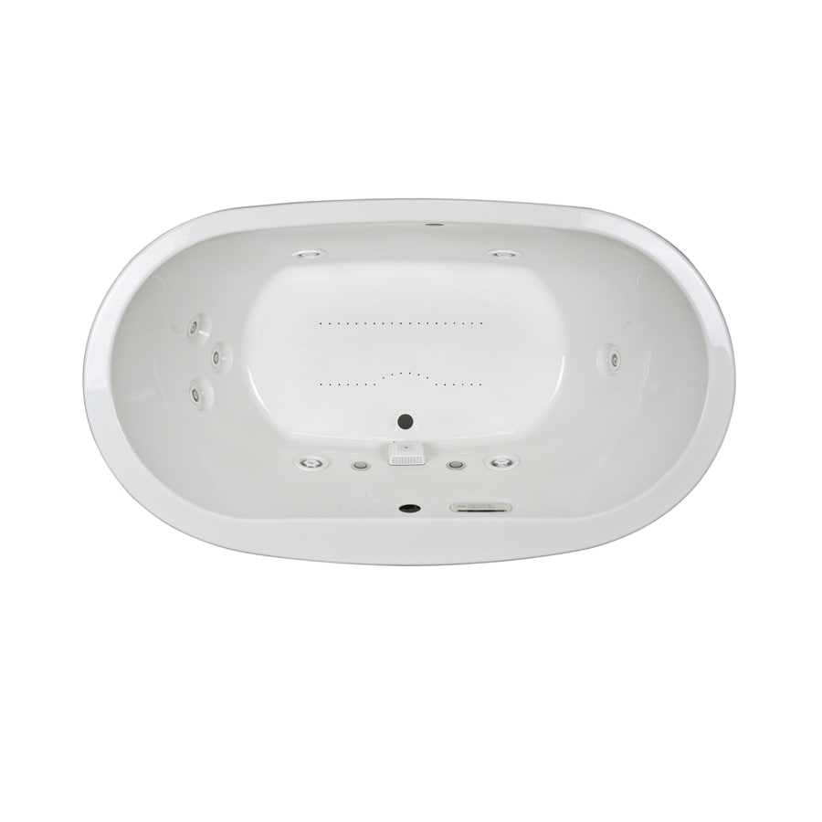 Jacuzzi Mio 72-in White Acrylic Drop-In Whirlpool Tub and Air Bath with Front Center Drain