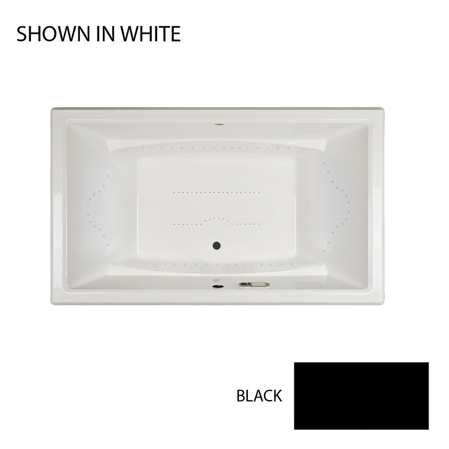 Jacuzzi Acero 72-in Black Acrylic Drop-In Air Bath with Front Center Drain