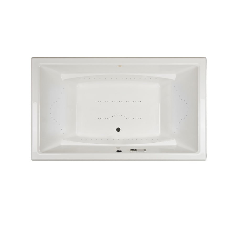 Jacuzzi Acero 72-in White Acrylic Drop-In Air Bath with Front Center Drain