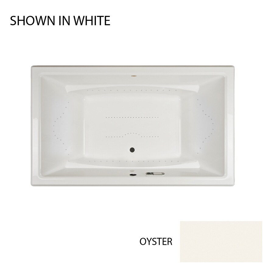 Jacuzzi Acero 72-in Oyster Acrylic Drop-In Air Bath with Front Center Drain