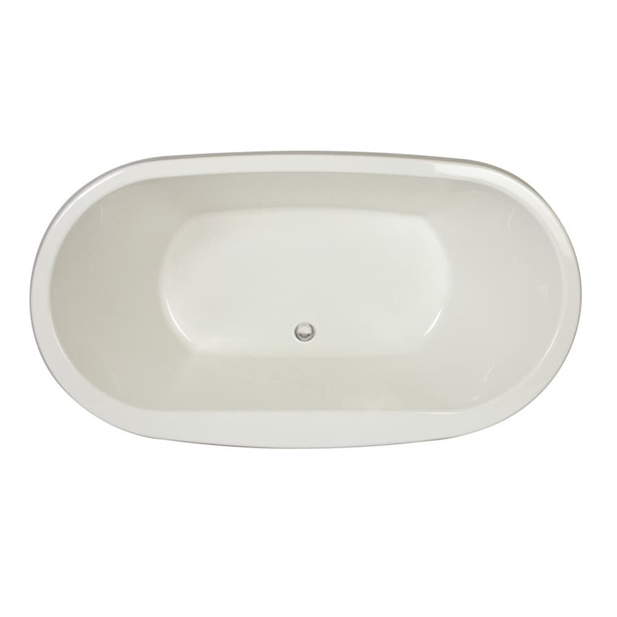 Jacuzzi Mio White Acrylic Oval Drop-in Bathtub with Front Center Drain (Common: 42-in x 72-in; Actual: 25-in x 42-in x 72-in)