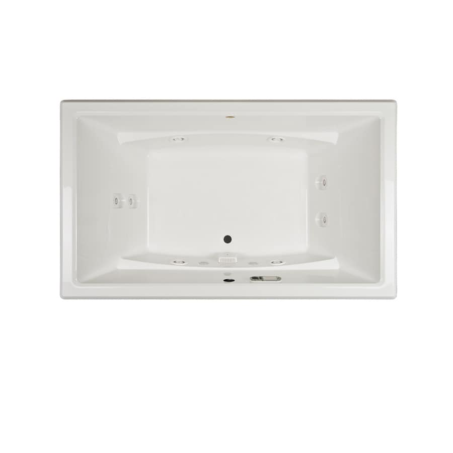 Jacuzzi Acero 66-in White Acrylic Drop-In Whirlpool Tub with Front Center Drain