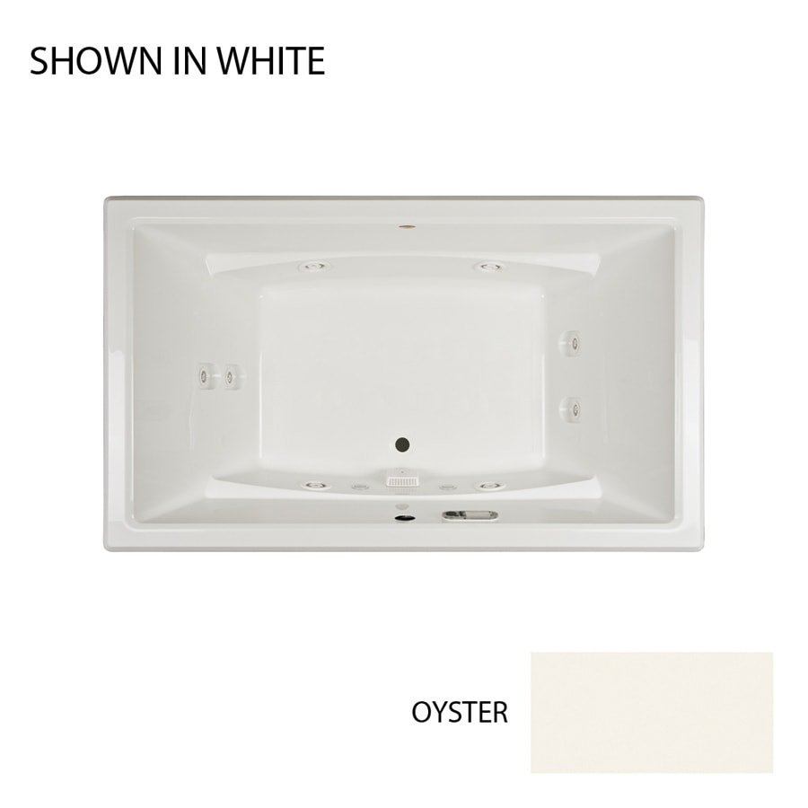 Jacuzzi Acero 66-in Oyster Acrylic Drop-In Whirlpool Tub with Front Center Drain