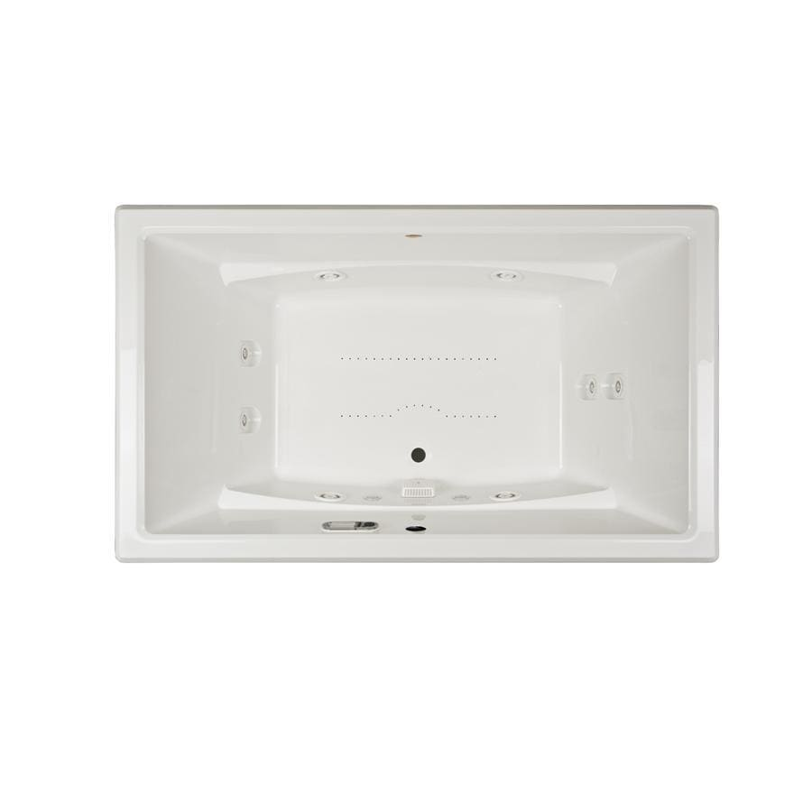 Jacuzzi Acero 72-in L x 42-in W x 25-in H 2-Person White Acrylic Rectangular Drop-in Whirlpool Tub and Air Bath