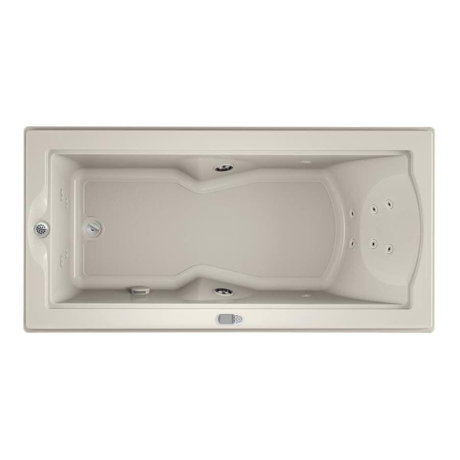 Jacuzzi Fuzion Oyster Acrylic Rectangular Whirlpool Tub (Common: 36-in x 72-in; Actual: 24-in x 35.4-in x 70.7-in)