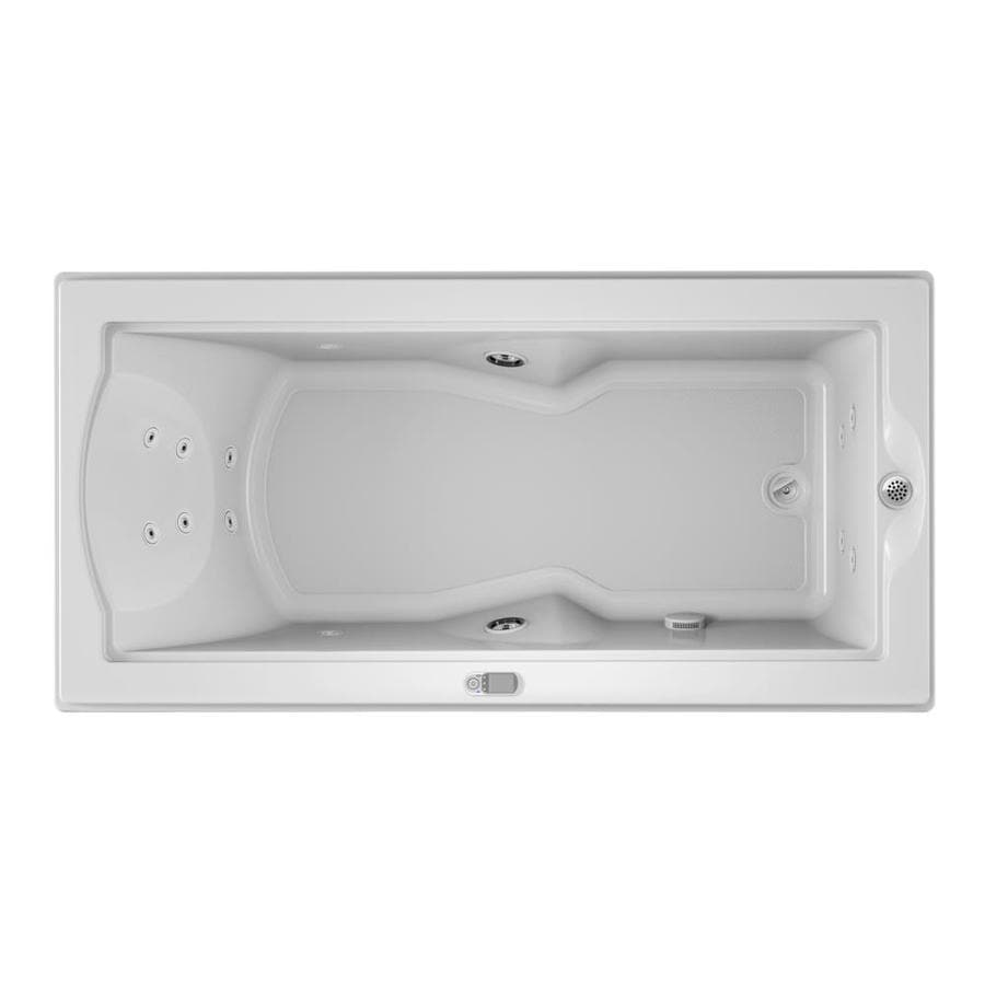 Jacuzzi Fuzion 70.7-in White Acrylic Drop-In Whirlpool Tub with Right-Hand Drain