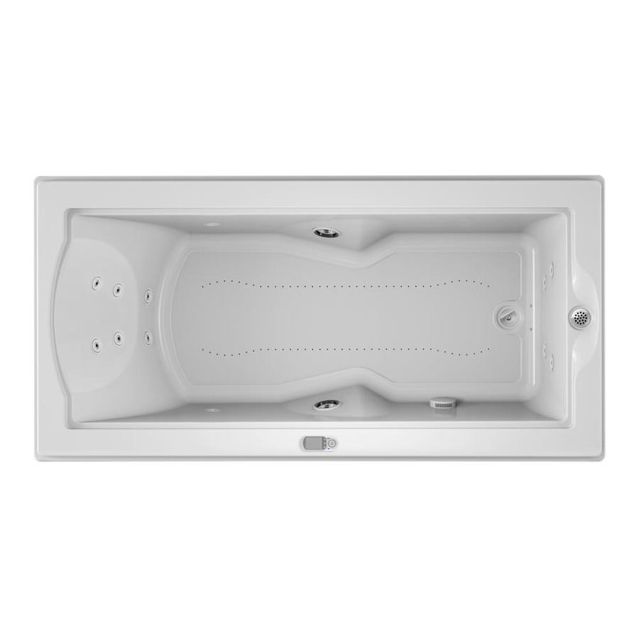 Jacuzzi Fuzion 70.7-in White Acrylic Drop-In Whirlpool Tub And Air Bath with Right-Hand Drain