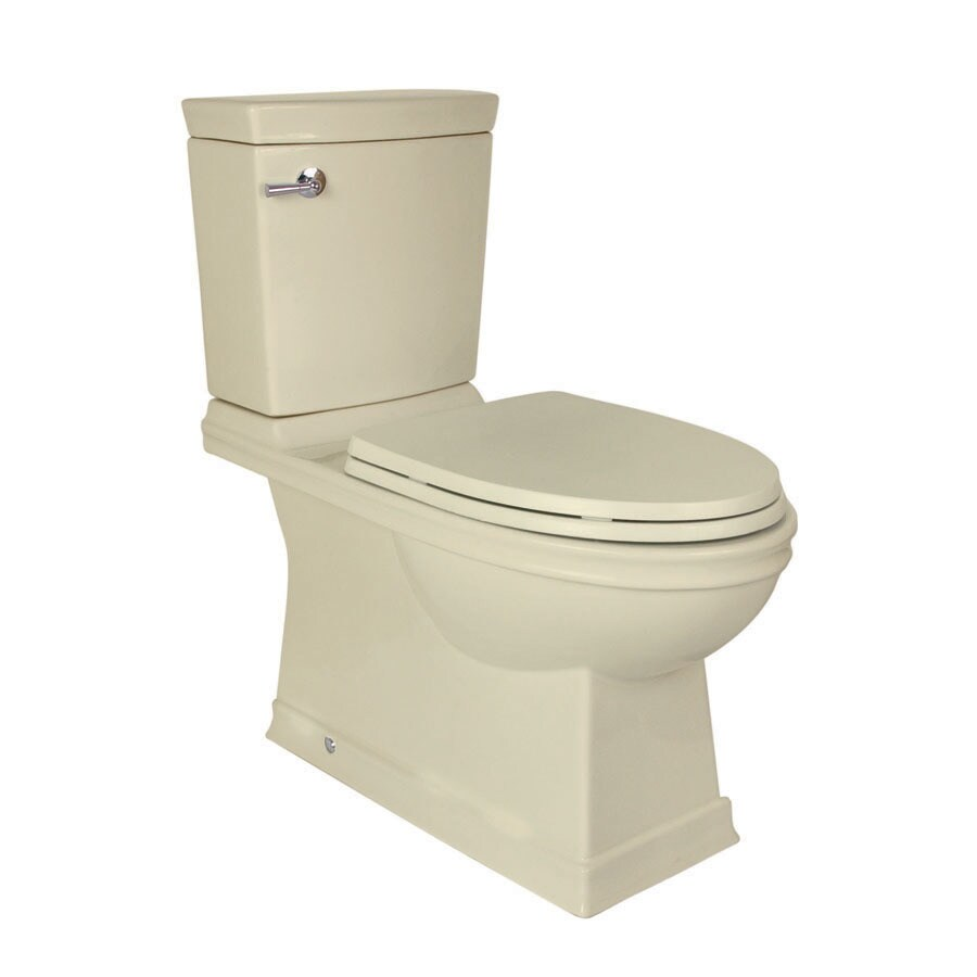 Jacuzzi Prestige Almond 1.28 GPF High Efficiency WaterSense Elongated 2-Piece Toilet