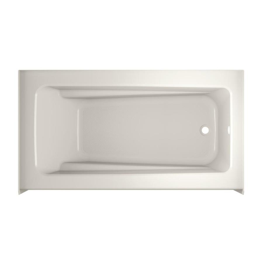 Jacuzzi Primo Oyster Acrylic Rectangular Skirted Bathtub with Right-Hand Drain (Common: 32-in x 60-in; Actual: 19-in x 32-in x 60-in)