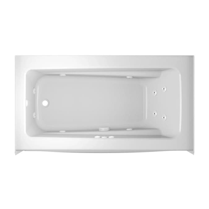 Jacuzzi Primo 32 In W X 60 In L White Acrylic Rectangular Left Drain Alcove Whirlpool Tub In The Bathtubs Department At Lowes Com