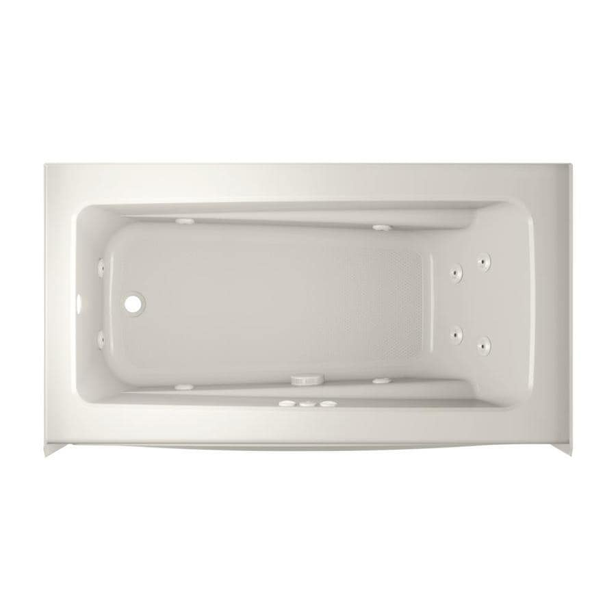 Jacuzzi Primo 60-in Oyster Acrylic Alcove Whirlpool Tub with Left-Hand Drain