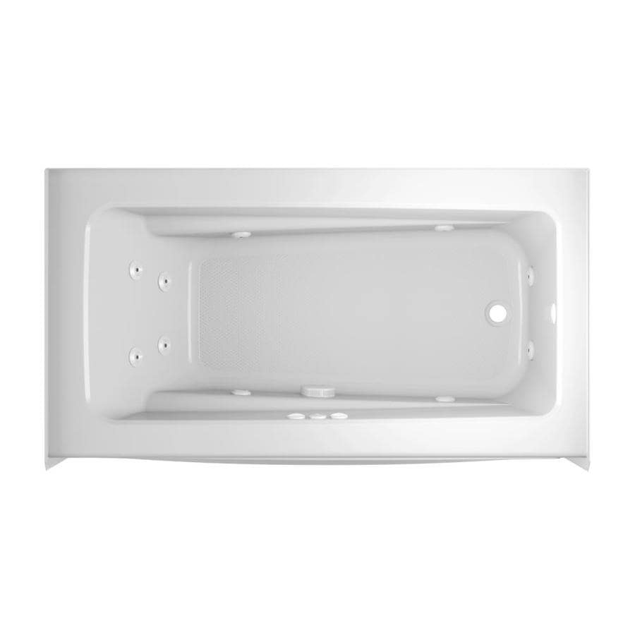 Shop Jacuzzi Primo 60-in White Acrylic Rectangular Right-Hand Drain ...