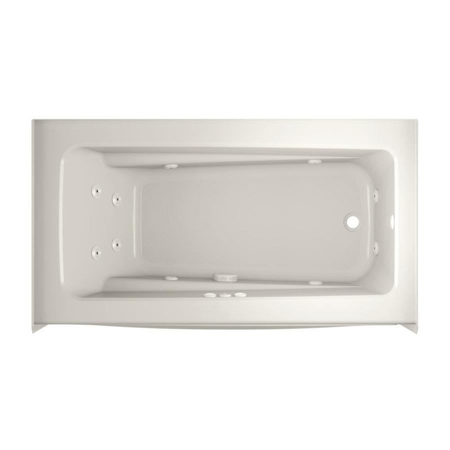 Jacuzzi Primo 60-in Oyster Acrylic Skirted Whirlpool Tub with Right-Hand Drain
