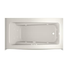 Jacuzzi Cetra 32 In W X 60 In L White Acrylic Rectangular Right Hand Drain Alcove Whirlpool Tub In The Bathtubs Department At Lowes Com