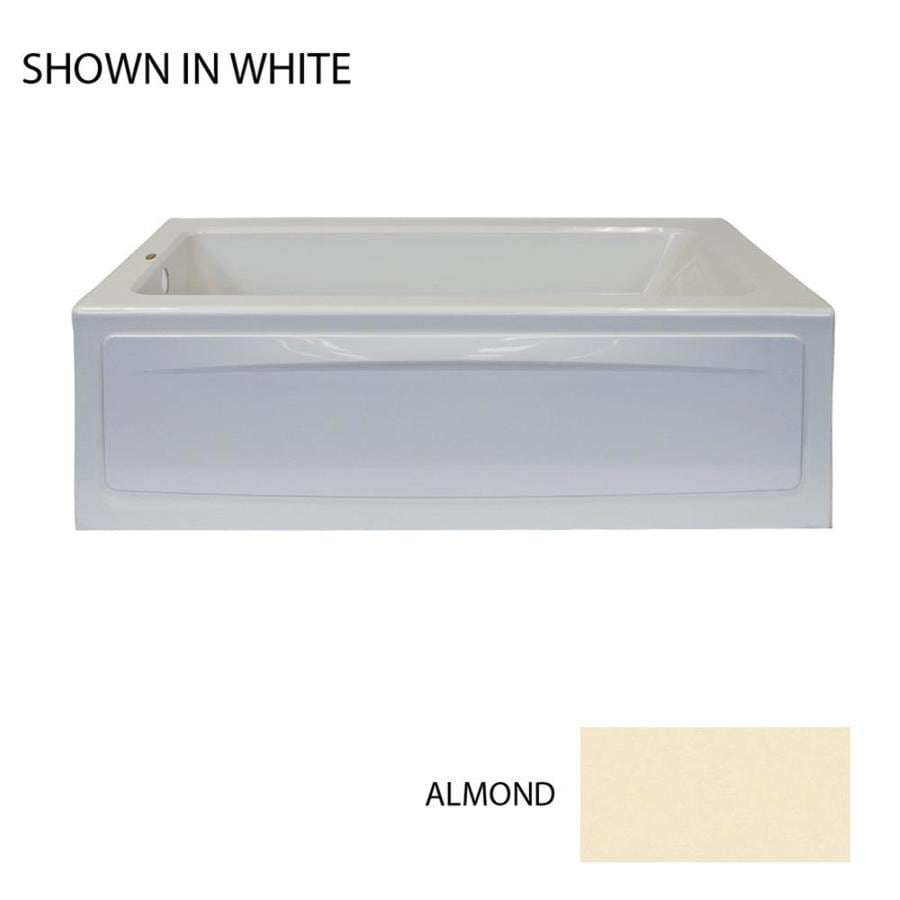 Jacuzzi Primo 60-in Almond Acrylic Alcove Air Bath with Left-Hand Drain