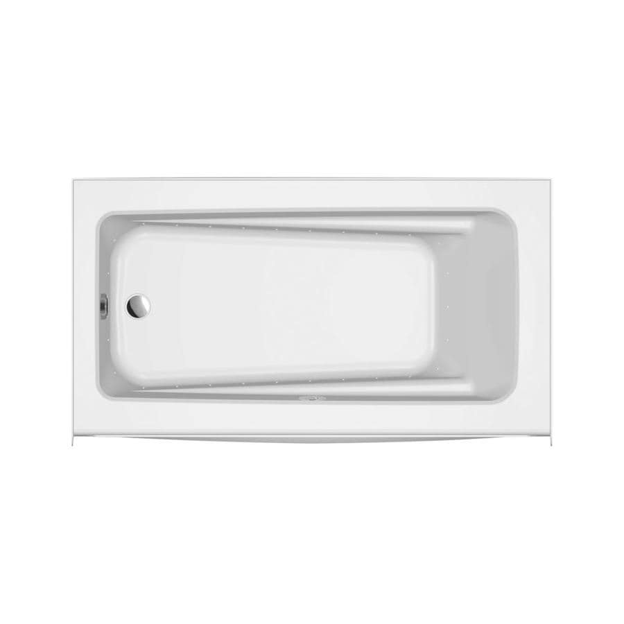 Jacuzzi Primo 60-in White Acrylic Skirted Air Bath with Left-Hand Drain