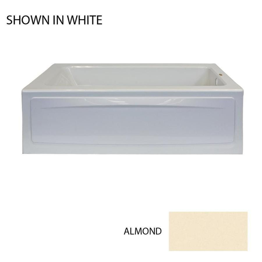 Jacuzzi Primo 60-in Almond Acrylic Alcove Air Bath with Right-Hand Drain