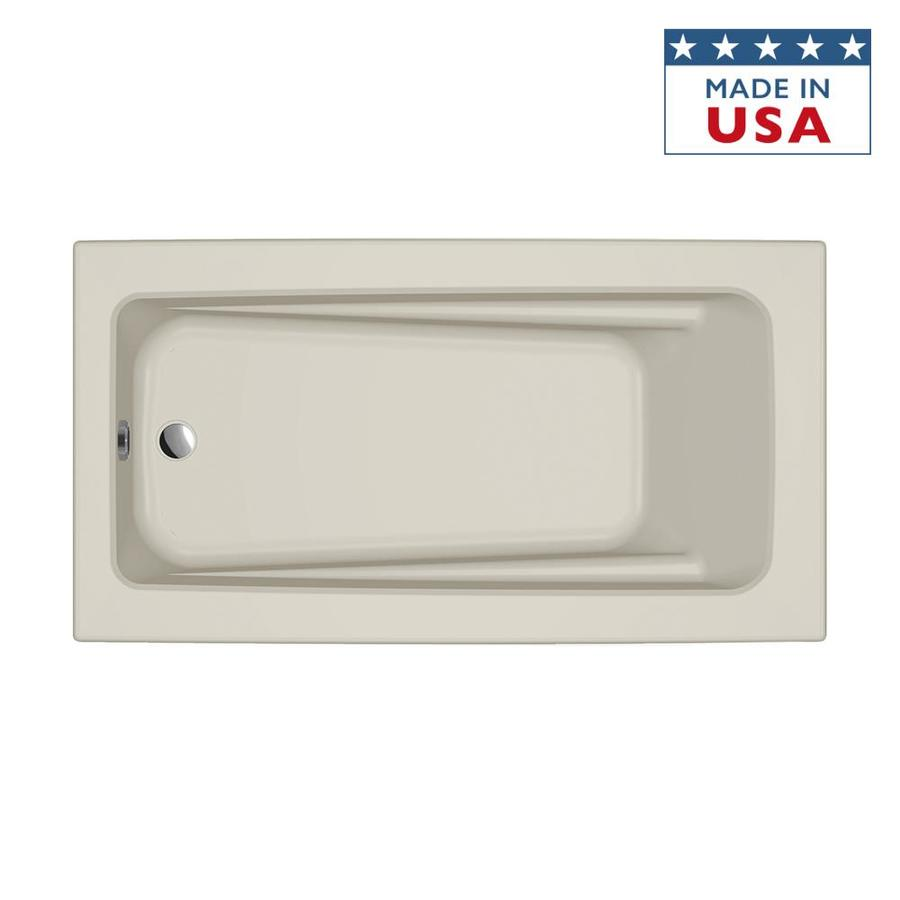 Jacuzzi Primo 60-in Almond Acrylic Drop-In Bathtub with Reversible Drain