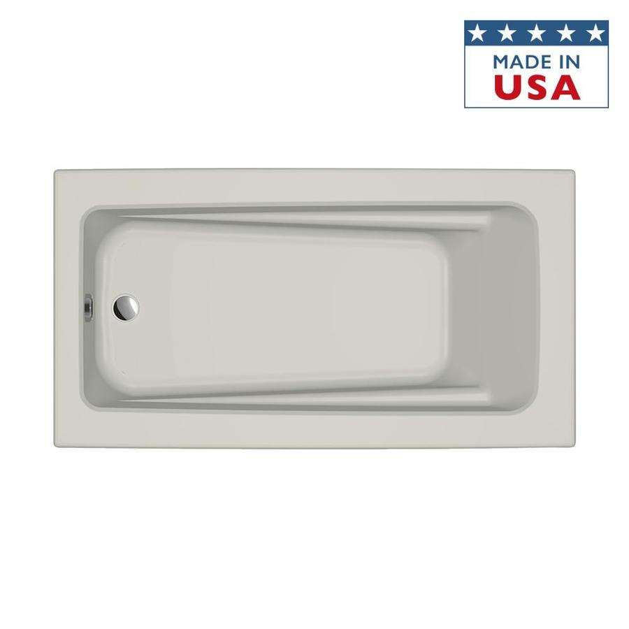 Jacuzzi Primo Oyster Acrylic Rectangular Drop-in Bathtub with Reversible Drain (Common: 32-in x 60-in; Actual: 19-in x 32-in x 60-in)