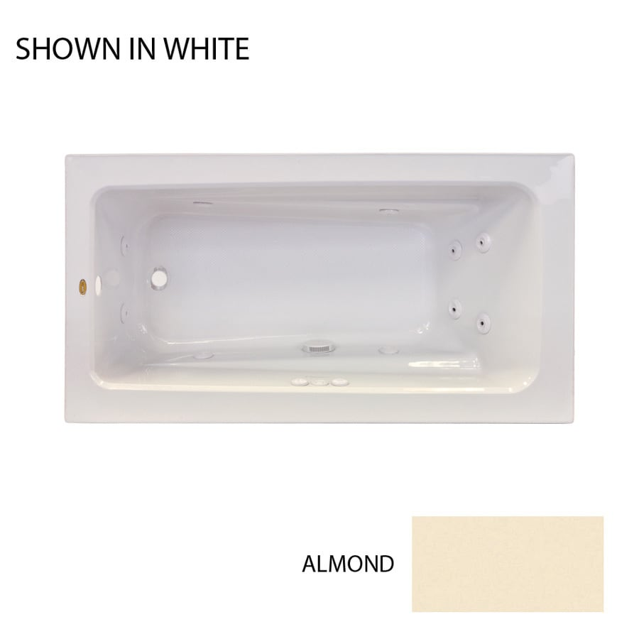 Shop Jacuzzi Primo 60-in Almond Acrylic Drop-In Whirlpool Tub with ...