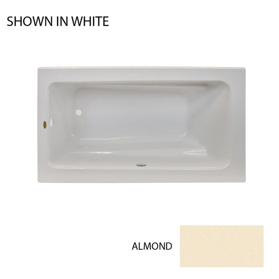 Jacuzzi Primo 60-in L x 32-in W x 19-in H Almond Acrylic Rectangular Drop-in Air Bath