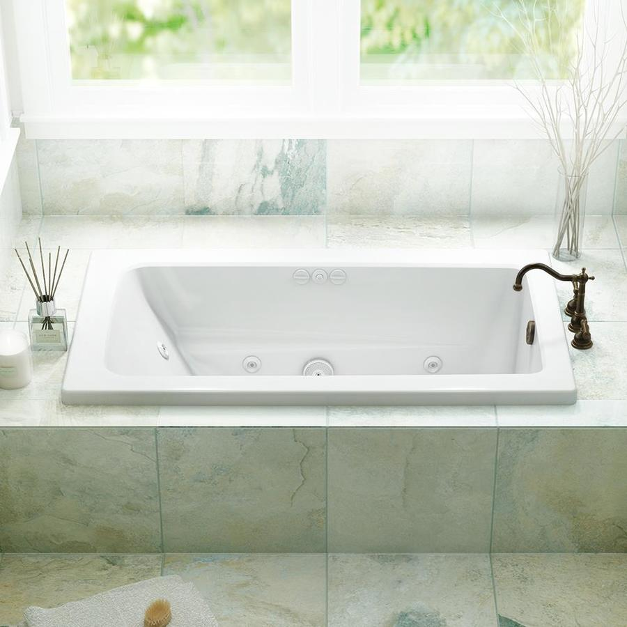 Shop Jacuzzi Primo 60-in White Acrylic Rectangular Reversible Drain ...