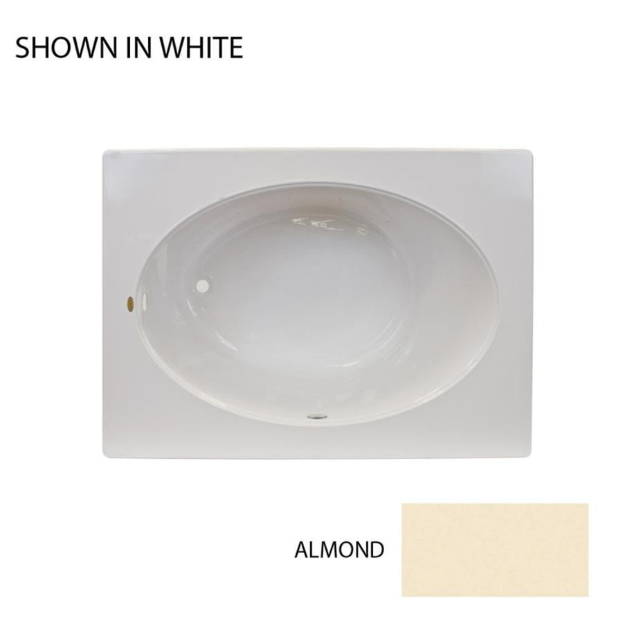 Jacuzzi Primo 60-in L x 42-in W x 21-in H Almond Acrylic Oval In Rectangle Drop-in Air Bath