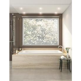 Jacuzzi Primo 72 In White Acrylic Rectangular Reversible Drain Drop Whirlpool Bathtub