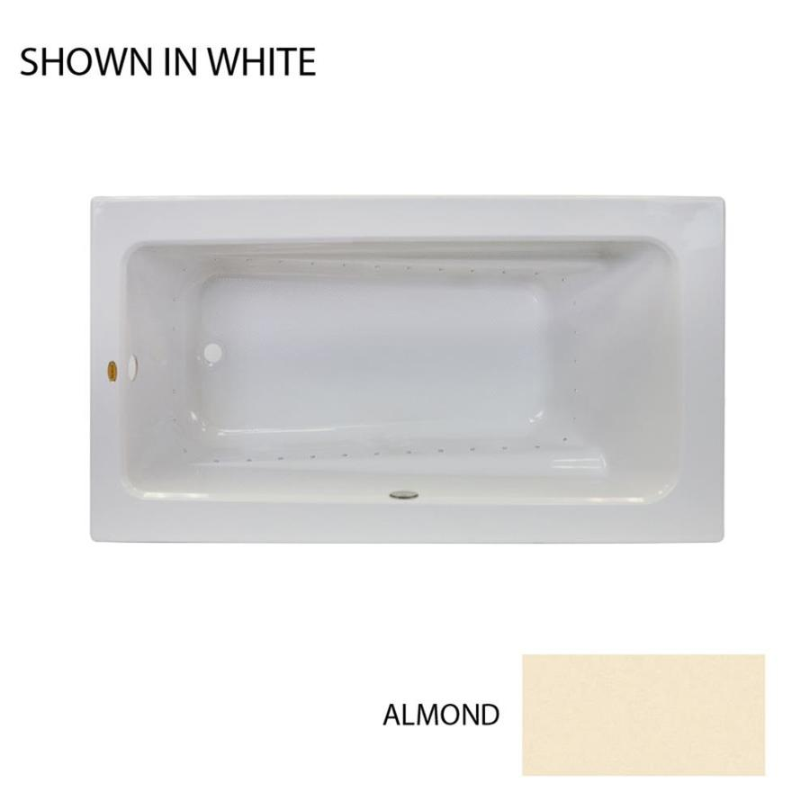 Jacuzzi Primo 72-in Almond Acrylic Drop-In Air Bath with Reversible Drain