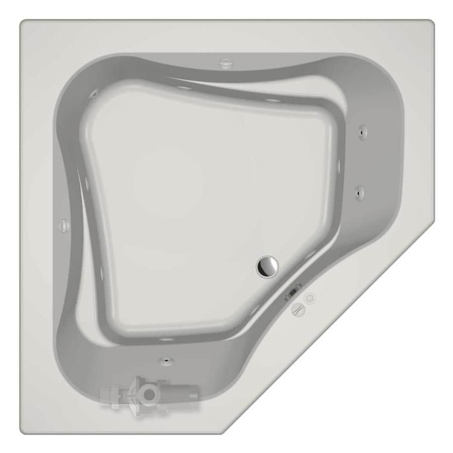 jacuzzi primo 60in white acrylic dropin whirlpool tub with front center drain - Jetted Tubs