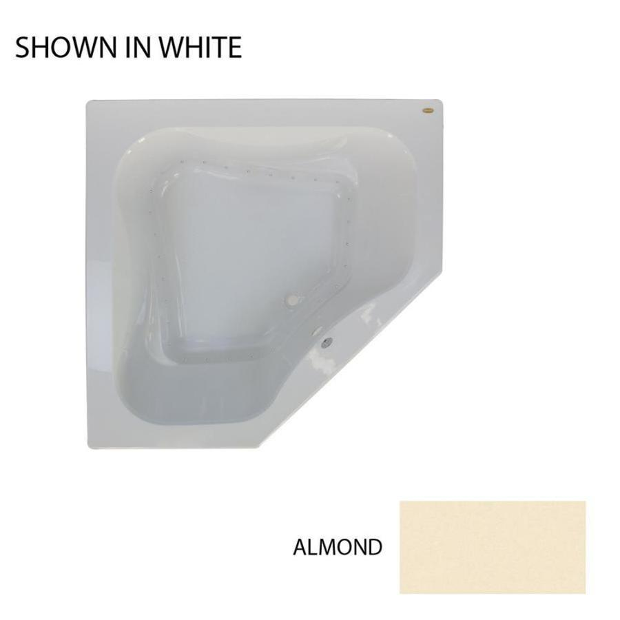 Jacuzzi Primo 60-in L x 60-in W x 21-in H Almond Acrylic 2-Person Corner Drop-in Air Bath