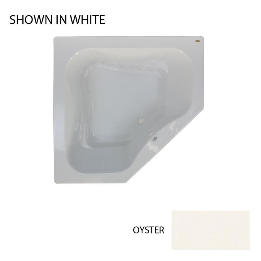 Jacuzzi Primo 60-in Oyster Acrylic Drop-In Air Bath with Front Center Drain